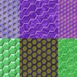 Set of hexacomb tiling seamless generated textures — Stock Photo #55901985