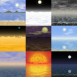 Set of abstract landscape generated backgrounds — Stock Photo #55902725