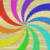 Rainbow swirl pixelated image generated texture — Stock Photo