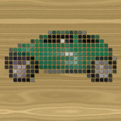 Car pixelated image generated texture — Stock fotografie