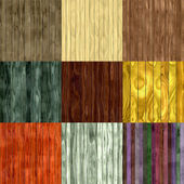 Set of wood fence seamless generated textures — Stock Photo