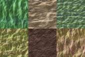 Set of wet stone seamless generated textures — Stock Photo