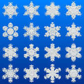 Snowflakes set generated texture — Stock Photo