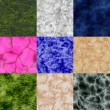 Set of marble seamless generated textures — Stock Photo #56275699