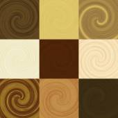 Set of wood swirl generated textures — Stock Photo