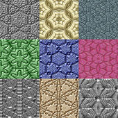 Set of Mayan ornaments seamless generated textures — Stock Photo