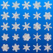 Snowflakes set generated texture — Foto Stock