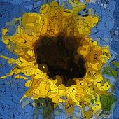 Sunflower graffiti mosaic generated texture — Foto Stock