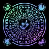 Runes generated hires texture — Stockfoto