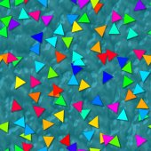 Triangle shapes with seamless generated texture background — Stock Photo