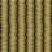 Coin stack seamless generated texture — Stock Photo