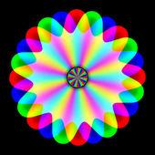 Rainbow waves generated texture — Zdjęcie stockowe