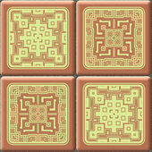 Cube tiles seamless generated hires texture — Stock Photo