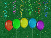 Confetti relief painting on generated marble texture background — Stock Photo