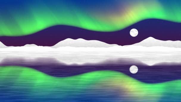 Video de bucle sin fisuras del polo Ártico generada — Vídeo de stock
