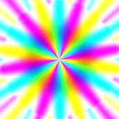 Rainbow waves generated texture — Stock Photo
