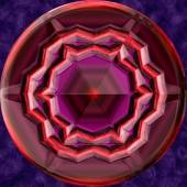Jewelled metal orb generated texture — Stock Photo