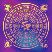 Runes generated hires texture — Stock Photo