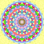 Mandala ornament generated texture — Stock Photo