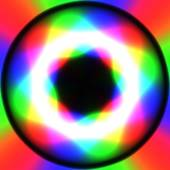Rainbow waves generated texture — Stockfoto
