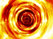 Fire tunnel generated texture — Stockfoto