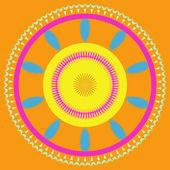 Mandala ornament generated texture — Stockfoto