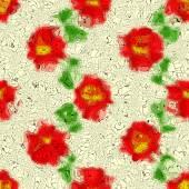 Mosaïque de fleurs graffiti generated texture — Photo