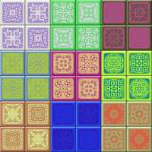 Set of cube tiles seamless generated textures — Fotografia Stock