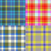 Set of tartan seamless generated textures — Stockfoto