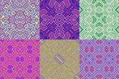 Set of wallpaper cubic floral seamless generated textures — Stock Photo