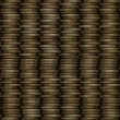 Coin stack seamless generated texture — Stock Photo #60157465