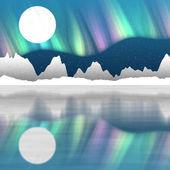 北极景观生成员工背景 — 图库照片