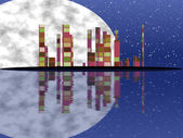 Night cityscape generated texture — Photo