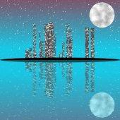 Night cityscape generated texture — ストック写真