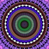 Mandala ornament generated texture — Stock fotografie