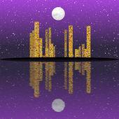Night cityscape generated texture — Stock Photo