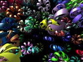 Flying ribbons generated 3D background — Stock Photo
