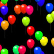Party balloons generated seamless loop video with alpha channel — Stock Video #60818169