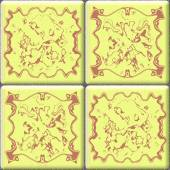 Delft tiles seamless generated hires texture — Stock Photo