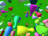 Flying pieces generated 3D background — Foto de Stock