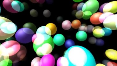 Flying transparent spheres generated 3D video — Stock Video