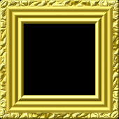 Golden picture frame generated texture — Stock Photo