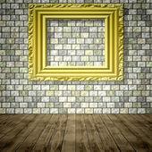 Empty room generated texture — Foto Stock