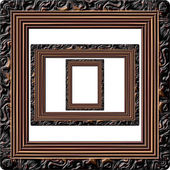 Wooden picture frame generated isolated texture — Stock Photo