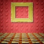 Empty room generated texture — Stock Photo
