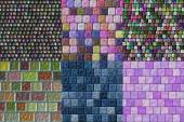 Set of glass tiles seamless generated textures — Zdjęcie stockowe