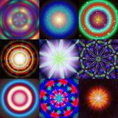 Set of magic ring generated textures — Zdjęcie stockowe