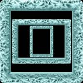 Marble picture frame generated isolated texture — Foto de Stock