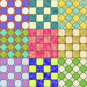 Set of floor tiles seamless generated texture — Zdjęcie stockowe