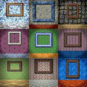 Set of empty room generated textures — Stock Photo